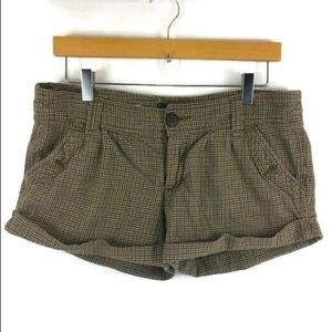 American Eagle Outfitters Brown/Tan Plaid Shorts 8